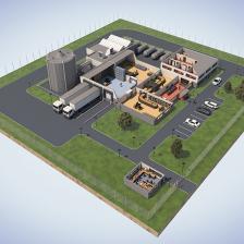 Chubb - Plan 3D d'une usine